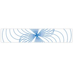 Blue Spirograph Pattern Drawing Design Flano Scarf (large)