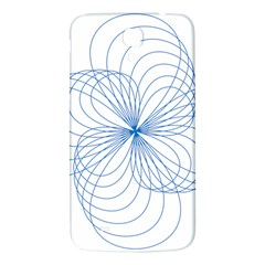 Blue Spirograph Pattern Drawing Design Samsung Galaxy Mega I9200 Hardshell Back Case