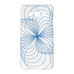 Blue Spirograph Pattern Drawing Design Samsung Galaxy A5 Hardshell Case
