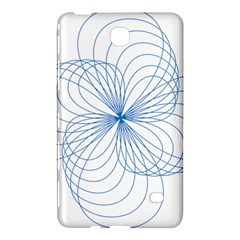 Blue Spirograph Pattern Drawing Design Samsung Galaxy Tab 4 (8 ) Hardshell Case