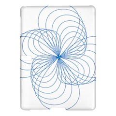 Blue Spirograph Pattern Drawing Design Samsung Galaxy Tab S (10 5 ) Hardshell Case