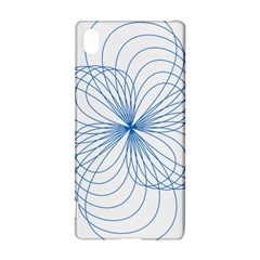 Blue Spirograph Pattern Drawing Design Sony Xperia Z3+