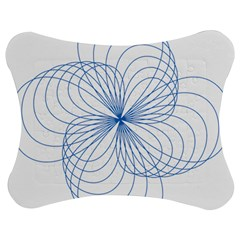 Blue Spirograph Pattern Drawing Design Jigsaw Puzzle Photo Stand (bow)