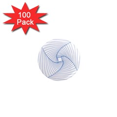 Spirograph Pattern Drawing Design 1  Mini Magnets (100 Pack)