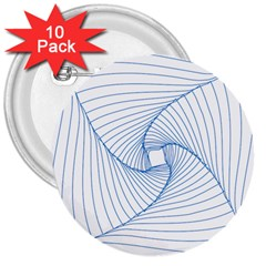 Spirograph Pattern Drawing Design 3  Buttons (10 Pack)