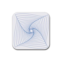Spirograph Pattern Drawing Design Rubber Coaster (square)