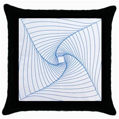 Spirograph Pattern Drawing Design Throw Pillow Case (Black)