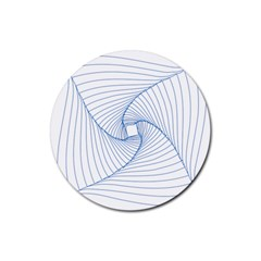 Spirograph Pattern Drawing Design Rubber Coaster (round)