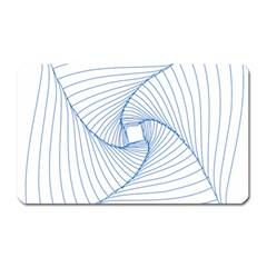 Spirograph Pattern Drawing Design Magnet (Rectangular)