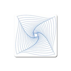 Spirograph Pattern Drawing Design Square Magnet