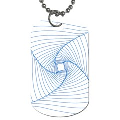 Spirograph Pattern Drawing Design Dog Tag (two Sides)