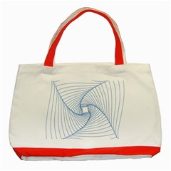 Spirograph Pattern Drawing Design Classic Tote Bag (Red)