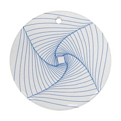 Spirograph Pattern Drawing Design Round Ornament (two Sides)