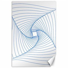 Spirograph Pattern Drawing Design Canvas 24  x 36