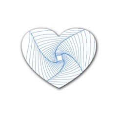 Spirograph Pattern Drawing Design Rubber Coaster (Heart)