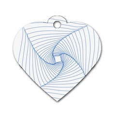 Spirograph Pattern Drawing Design Dog Tag Heart (one Side)