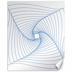 Spirograph Pattern Drawing Design Canvas 11  x 14