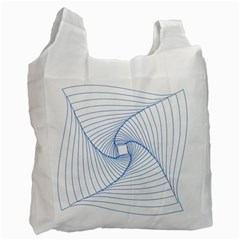 Spirograph Pattern Drawing Design Recycle Bag (Two Side)