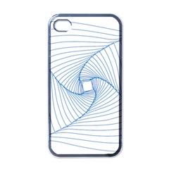 Spirograph Pattern Drawing Design Apple Iphone 4 Case (black)