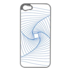 Spirograph Pattern Drawing Design Apple iPhone 5 Case (Silver)