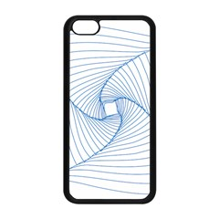 Spirograph Pattern Drawing Design Apple iPhone 5C Seamless Case (Black)