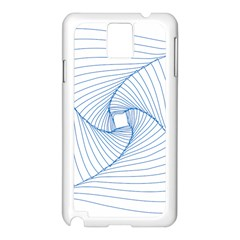 Spirograph Pattern Drawing Design Samsung Galaxy Note 3 N9005 Case (white)