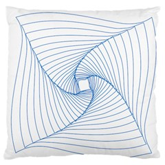 Spirograph Pattern Drawing Design Large Flano Cushion Case (one Side)
