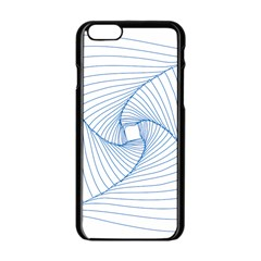 Spirograph Pattern Drawing Design Apple Iphone 6/6s Black Enamel Case