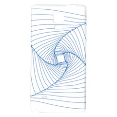 Spirograph Pattern Drawing Design Galaxy Note 4 Back Case
