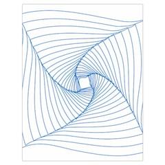 Spirograph Pattern Drawing Design Drawstring Bag (large)