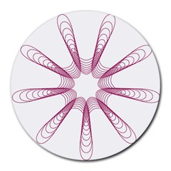 Spirograph Pattern Circle Design Round Mousepads