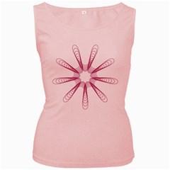 Spirograph Pattern Circle Design Women s Pink Tank Top