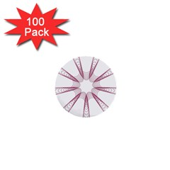 Spirograph Pattern Circle Design 1  Mini Buttons (100 Pack)