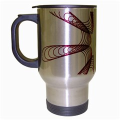 Spirograph Pattern Circle Design Travel Mug (silver Gray)