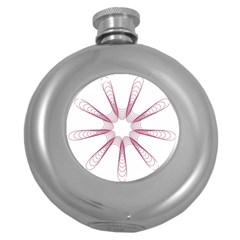Spirograph Pattern Circle Design Round Hip Flask (5 Oz)