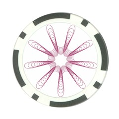 Spirograph Pattern Circle Design Poker Chip Card Guard (10 Pack)