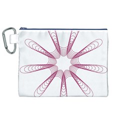 Spirograph Pattern Circle Design Canvas Cosmetic Bag (XL)