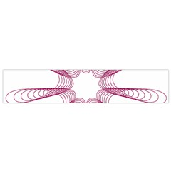 Spirograph Pattern Circle Design Flano Scarf (small)