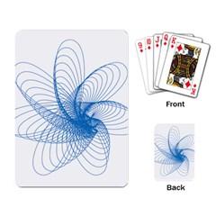 Spirograph Pattern Drawing Design Blue Playing Card