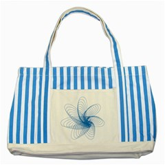 Spirograph Pattern Drawing Design Blue Striped Blue Tote Bag