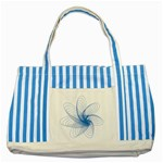 Spirograph Pattern Drawing Design Blue Striped Blue Tote Bag Front