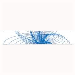 Spirograph Pattern Drawing Design Blue Small Bar Mats