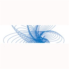 Spirograph Pattern Drawing Design Blue Large Bar Mats