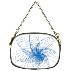 Spirograph Pattern Drawing Design Blue Chain Purses (one Side)