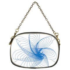 Spirograph Pattern Drawing Design Blue Chain Purses (two Sides)