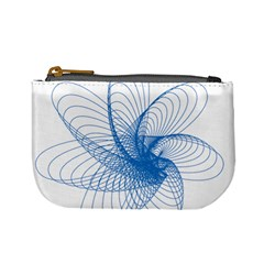 Spirograph Pattern Drawing Design Blue Mini Coin Purses