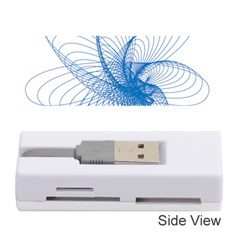 Spirograph Pattern Drawing Design Blue Memory Card Reader (Stick)