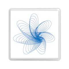 Spirograph Pattern Drawing Design Blue Memory Card Reader (Square)