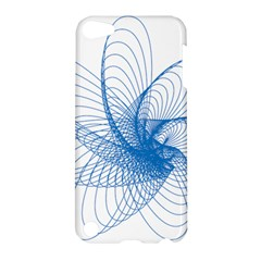 Spirograph Pattern Drawing Design Blue Apple Ipod Touch 5 Hardshell Case