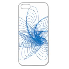 Spirograph Pattern Drawing Design Blue Apple Seamless Iphone 5 Case (clear)